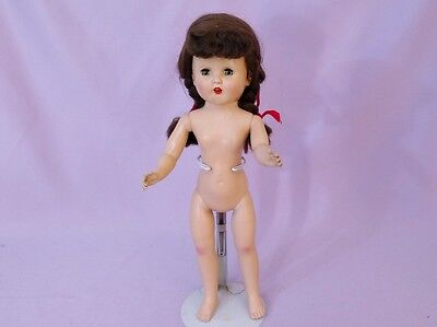 """Lovely 15"""" Hard Plastic CINDY DOLL BY HORSMAN. 1950s to DRESS"""