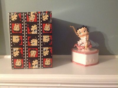 Betty Boop Collectible Porcelain & Rare  Heart Shape Music Box With Original Box