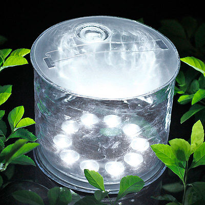 Outdoor 10LED Solar Powered Foldable Inflatable Lightweight Light For Garden