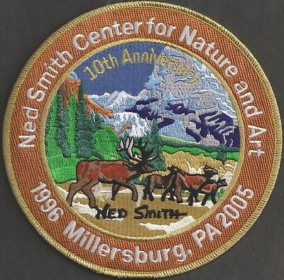 """Pa Pennsylvania Fish Game Commission 2005 Ned Smith 6"""" 10th Anniversary Patch"""