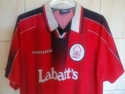 Nottingham Forest home shirt Umbro, XL,1996/97 UVGC. PEARCE SAUNDERS ROY HAALAND