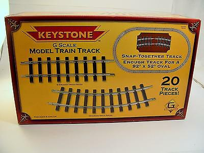 Keystone G Scale Model Train Track 20 Pieces New Sealed Box 92 x 52 inch oval