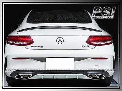 Carbon Fiber Trunk Spoiler Lip For 2015+ Mercedes Benz W205 Coupe 2Dr ONLY CF