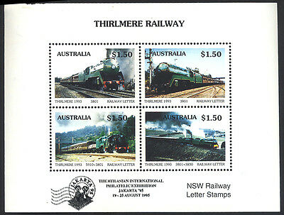 1995 Australia - Jakarta O/p - Thirlmere Railway Nsw R/way Letter Stamps - J47