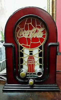 coca cola stained glass look radio
