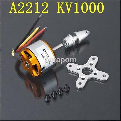 1X A2212-1000Kv Outrunner Brushless Motor For Quadrocopter Fixed Wing NEW AU