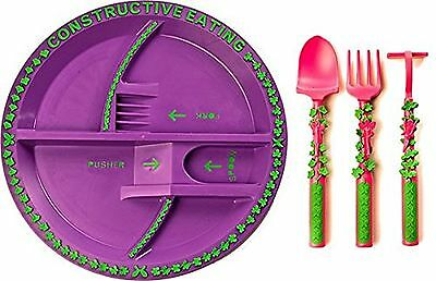 Constructive Eating - Garden Fairy Utensil Set with Garden Plate