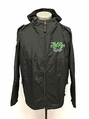 rare THE BLACK EYED PEAS tour jacket crew THE END 2010 windbreaker hoodie LARGE