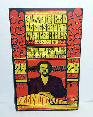 Vintage Bill Graham THE BUTTERFIELD BLUES BAND CONCERT Postcard 1967