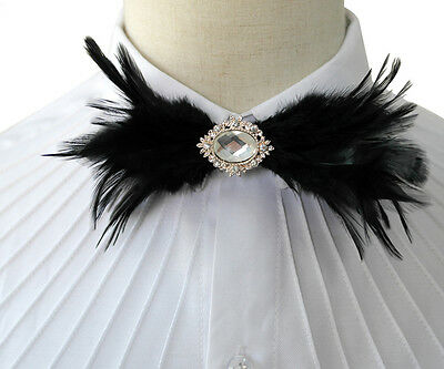 Pre-Tied Crystal Feather Bow Tie Novelty Tuxedo Bowtie Wedding Cravat Event Gift