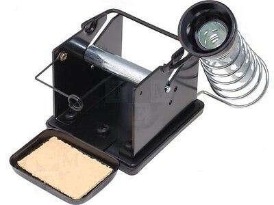 Soldering Iron tip cleaner Stand With Solder Reel Feeder Built In