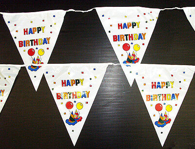 9x11in Happy Birthday Pennant, 15 Flags on 20 ft String  (TF400)