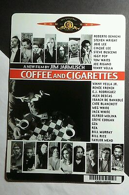 COFFEE AND CIGARETTES JIM JARMUSCH B&W MINI POSTER BACKER CARD (NOT A movie)