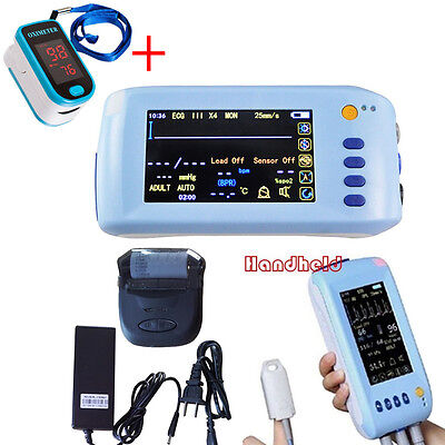 Handheld Multi-Parameter Vital sign Patient Monitor ECG NIBP Spo2 PR TEMP + SPO2