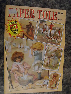 Paper Tole Instructional Book-Volume 3-Big Wash-Waiting For Ferry-5 Projects-New
