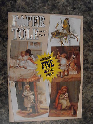 Paper Tole Instructional Book-Volume 6-Boys Girls Birds-5 Projects-New