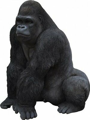 Gorilla Statue Garden Ornament Monkey Home Resin Outdoor Indoor Patio Sculpture