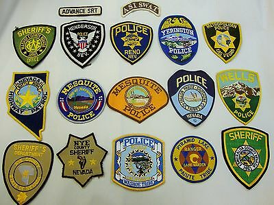 Nevada 17 Count Lot Of Collectible Police / Sheriff Uniform Shoulder Patches