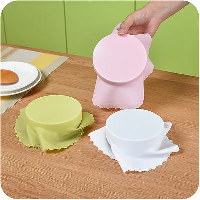 Bowl Lid Silicone Plastic Wrap Cover Microwave Oven Refrigerator Fresh Bowl Seal