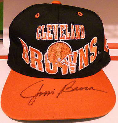 Jim Brown Autograph Hat Signed Cleveland Browns Cap Hall of Fame HOF AUTO RARE