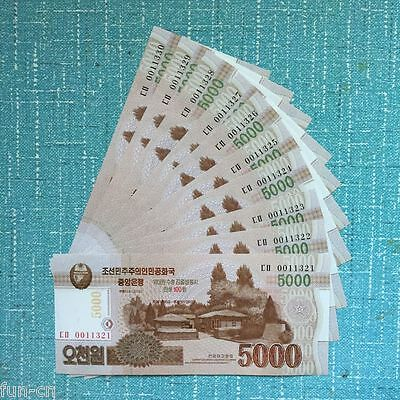 Korea 5000 Won 2015. P-New12. UNC. 10PCS  Consecutive sequence numbers.
