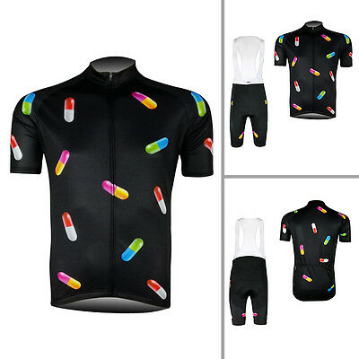 2017 Winter Capsule Mens Cycling Outfits Short Sleeve Jersey Bib Shorts Kits Pad