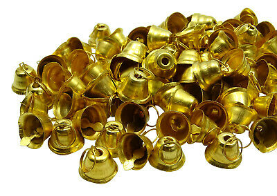 Decorative Traditional Brass Handmade Religious Small Bells Art Lots Of 100 Pcs