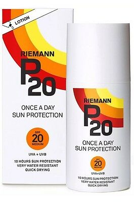 Rieman P20 Once A Day Sun Protection Lotion - SPF 20 Medium - 200ml FREE POSTAGE