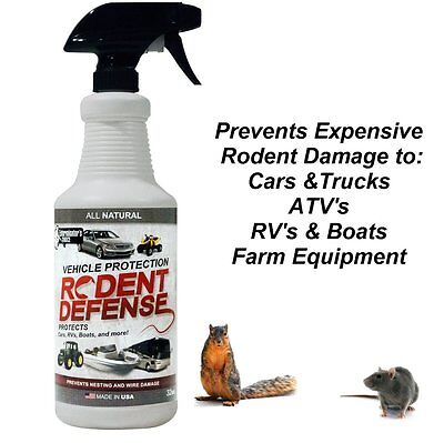 Vehicle Protection-Mice & Rodent Repellent Vehicle Wiring-All Natural-0.9L Spray