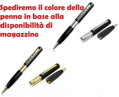 mnt* PENNA MICROSPIA CON MICRO CAMERA SPIA SPY PEN NASCOSTA AUDIO VIDEO TF CARD