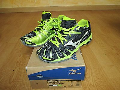 MIZUNO WAVE STEALTH 2 -  T40 - noir et jaune - baskets de handball - volley