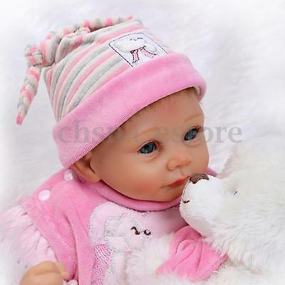 "22"" Silicone Reborn Baby Doll Lifelike Cute Juguetes Girl For Niños Gift Muñecas"