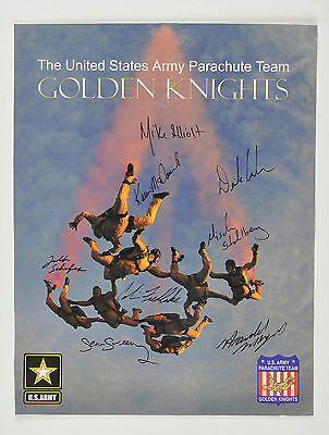 United States Army Parachute Team Golden Knights Autographed Picture