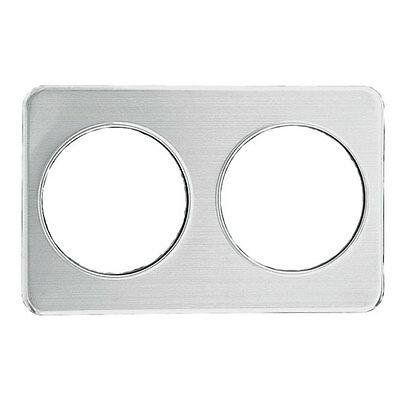 Update AP-27D Deluxe Stainless Adapter Plate with (2) 8-3/8 Holes