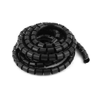 Flexible Spiral Tube Cable Wire Wrap Cord Management 3Meter 10Ft Black
