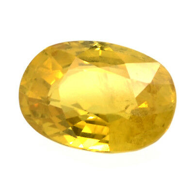 Gema de ZAFIRO AMARILLO NATURAL en TALLA OVAL de 2.64ct. 9x7mm. SOLO CALOR!!!