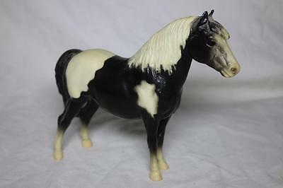 Vintage Breyer Molding Co. Black & White Horse w/ White Mane *beautiful*