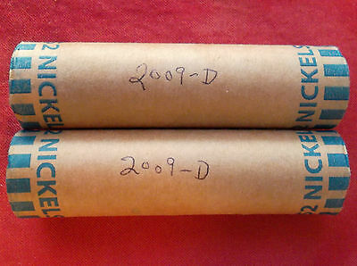 2009-D nickels - Uncirculated bank-wrapped roll(s), Head/Tails orientation