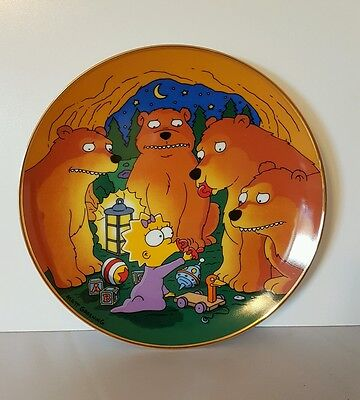 The Simpsons Maggie And The Bears Collector's Plate Limited Edition 1992