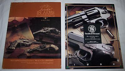 vintage 1992 Smith & Wesson catalog handguns plus book Artistry in Arms