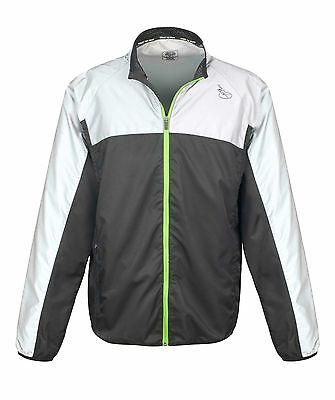 Time to Run Men's Reflective Windproof Running Jacket Free UK P&P