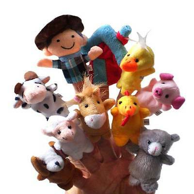 10Pcs Animals Finger Puppets Set Story Telling Nursery Fairy Tale Toys for Kids