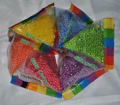 Set of 6 Bath Caviar Individually Wrapped Bath Sprinkles Skincare Various Scents