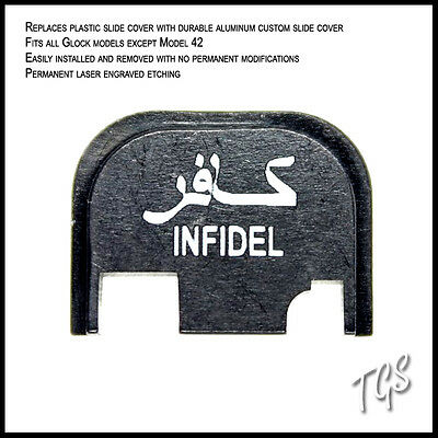 INFIDEL Design Slide Cover Plate for Glock Fits All except for 42, 43 or 35