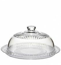 Vintage Design Glass Cake / Cheese Display Serving Plate and Dome Cover 27cm