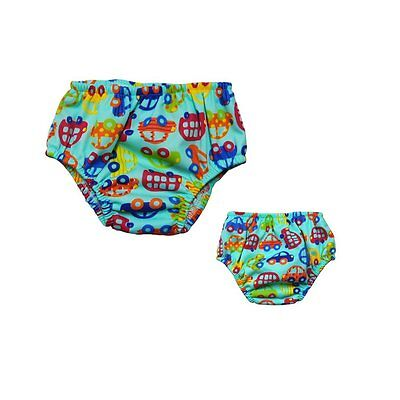 Babyfriend 1 pc Little Swimmers Reusable Swimpants, Boys Swim Diaper Size Small