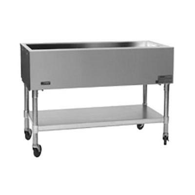 """Eagle Group SPCP-5 81-1/2"""" Ice Cooled Mobile Cold Well w/ S/S Shelf & Legs"""