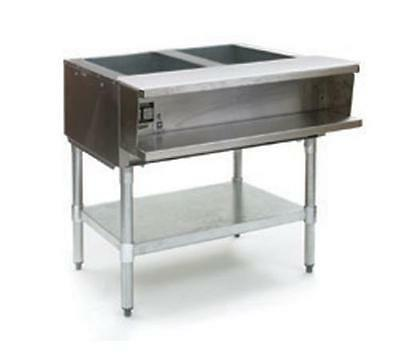 Eagle Group AWTP2 2-Well Gas Steam Table w/ Galvanized Shelf & Safe Pilot
