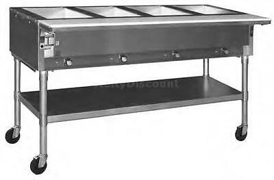 Eagle Group SPDHT2 Dual Well Mobile Electric Hot Food Table w/ S/S Shelf & Legs