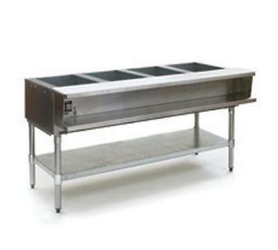 Eagle Group AWTP4 4-Well Gas Steam Table w/ Galvanized Shelf & Safe Pilot